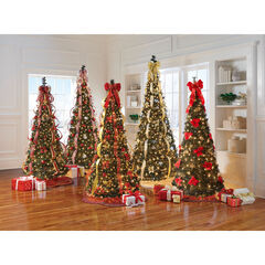 Fully Decorated Pre-Lit 6-Ft. Pop-Up Christmas Tree,
