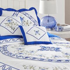 Ava Embroidered Cotton Breakfast Pillow,