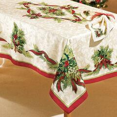 "Christmas Ribbons Tablecloth 60"" x 84"","