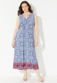Visionary Twist-Knot Maxi Dress,