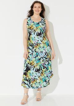 Palmdale Round-Hem Maxi Dress,