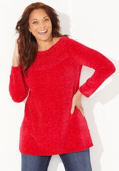 Chenille Pullover Tunic Sweater,
