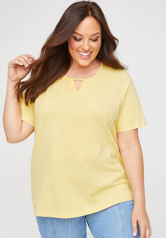 Suprema Pleat-Neck Tee,
