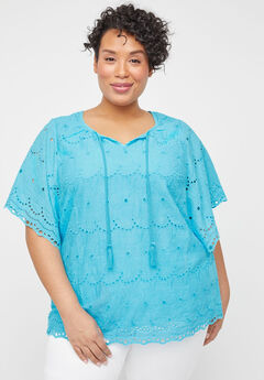Harborview Eyelet Top,