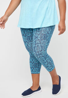 Lake Dot Active Legging Capri,