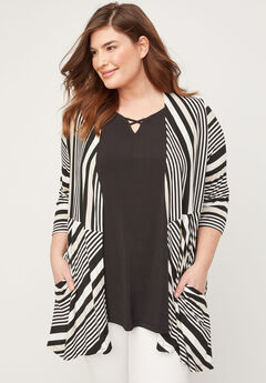 Sand Striped Overpiece,