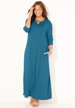 Free & Easy Maxi Dress (With Pockets), TURKISH TILE