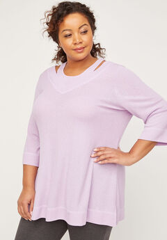 ComfySoft Ribbed Duet Tunic,