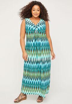 Cascading Springs Maxi Dress,