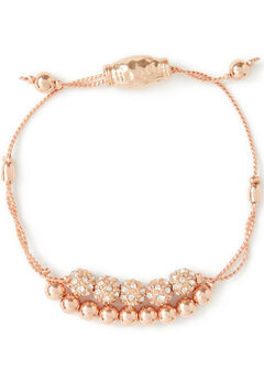 Rose Gold Slider Bracelet,