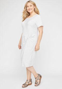 Twisted Stripe A-Line Dress,