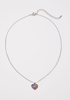 American Heart Pendant Necklace,