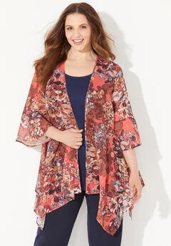 Seasonless Cascade Kimono,