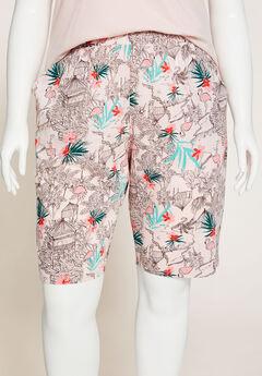 Flamingo Flair Cotton Sleep Short,