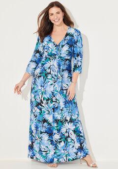 Winflo Medallion Twist Maxi Dress,
