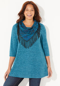 Impossibly Soft Tunic & Scarf Duet,