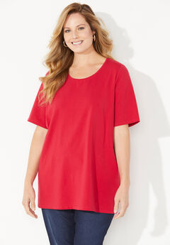 Suprema Ultra-Soft Scoopneck Tee,