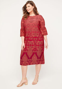 Paisley Fade Shift Dress,