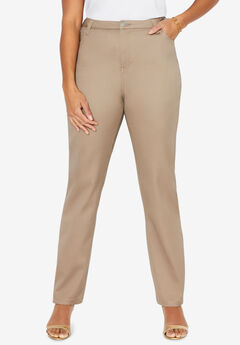 Sateen Stretch Pant, CAPPUCCINO