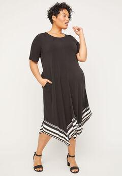 Stoneywood Stripe A-Line Dress (With Pockets),