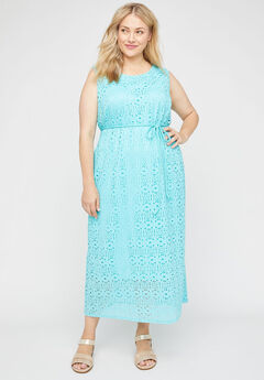 Spring Meadows Lace Maxi Dress,