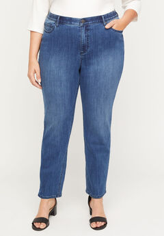 Secret Slimmer Straight Leg Jean,