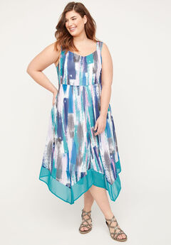 Georgette Dreams Fit & Flare Dress,