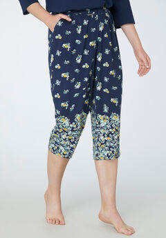 Sleep Capri, MARINER NAVY FLORAL