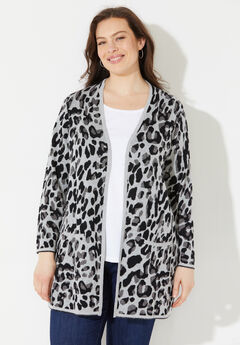 Luxe Leopard Sweater Cardigan,