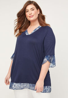 Valleyside Floral Duet Top,