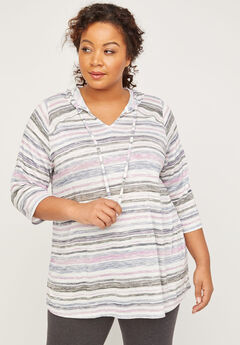 ComfySoft Striped Hooded Top,