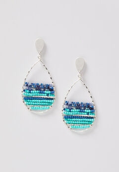 Malibu Seed Bead Teardrop Earrings,