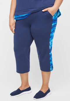 Oceanside Inset Relaxed Capri,