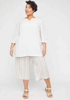 Embroidered Gauze Tunic,