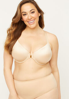 Front-Close Underwire Racerback Bra,