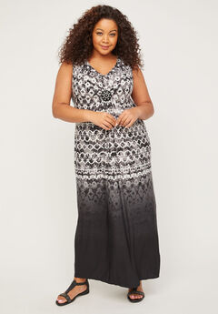 Whisper Medallion Twist Maxi Dress,