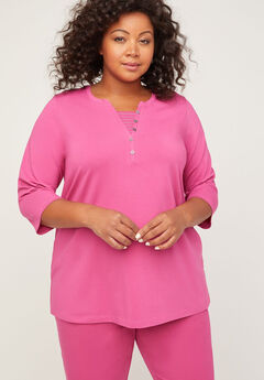 Suprema Henley Duet Top,