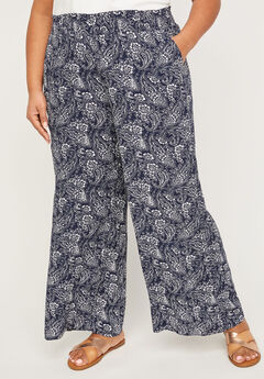 Breezy Crinkle Wide Leg Pants,