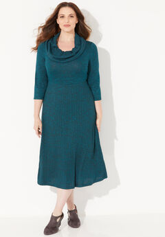 Impossibly Soft Marled Cowlneck Dress,