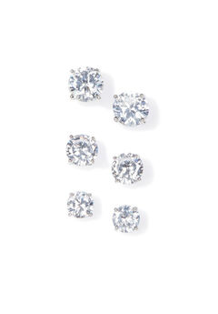 3-Pack Dazzling Post Earrings,