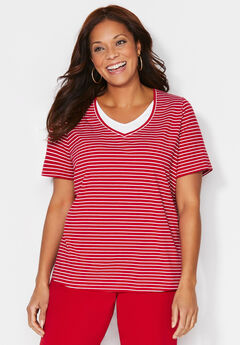 Suprema Striped Duet Top,