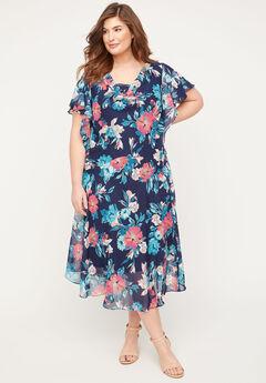 Parker Acres Fit & Flare Dress,