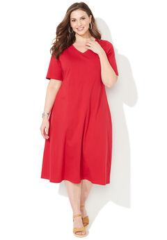 Mayfair Park A-line Dress, RED