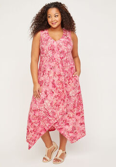 Watercolor A-line Dress (With Pockets),