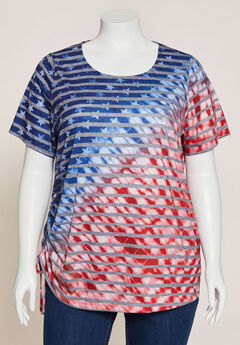 Stars & Stripes Ruched-Side Tunic,