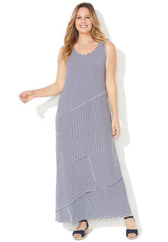Elmhurst Seamed Maxi Dress,
