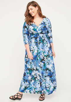 Garden Walk Twist-Knot Maxi Dress,