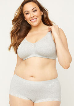 Cotton Comfort No-Wire Bra With Lace,
