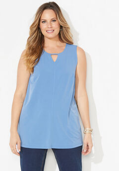 Timeless Tunic Tank With Cutout,