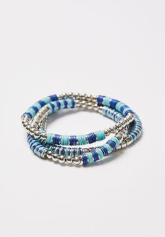 3-Row Pacific Springs Stretch Bracelets,